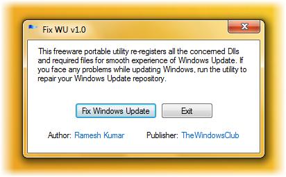 Fix WU: Sửa lỗi Update của Windows 7 và Vista