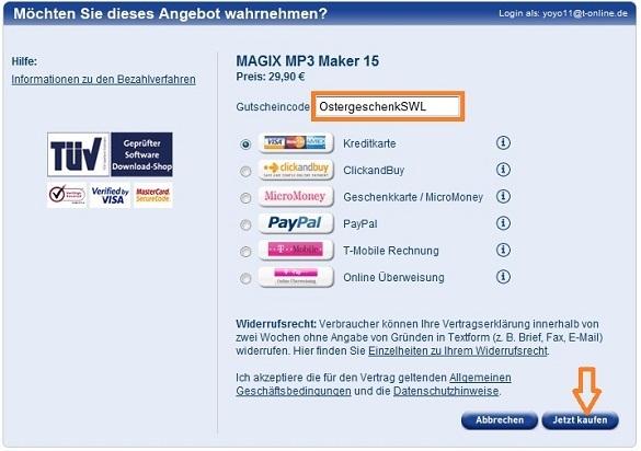 MagixMP3Maker 15
