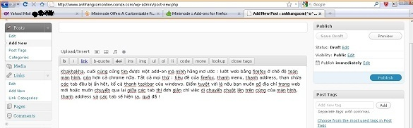 Minimode Firefox add-on