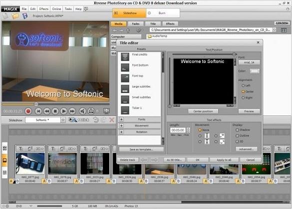 Magix Xtreme PhotoStory on CD & DVD 8 - Nhan key ban quyen mien phi