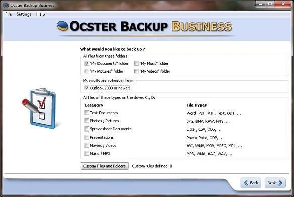 Ocster Backup Business