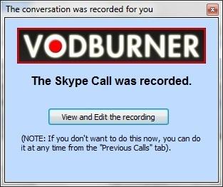 VODBurner - Ghi am cuoc goi Skype
