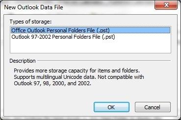 Outlook Data File Management pst