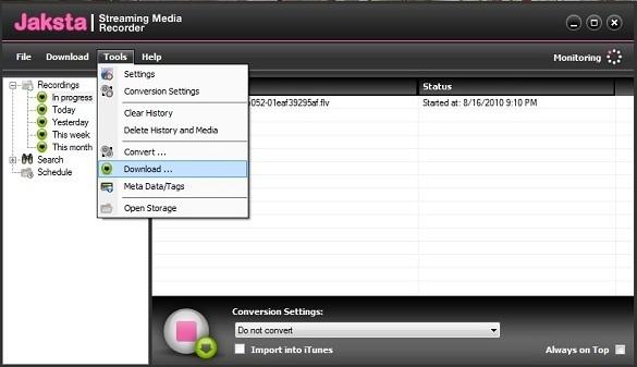 Jaksta Streaming Media Recoder
