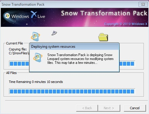 Snow Transformation Pack 1.0 for Win7