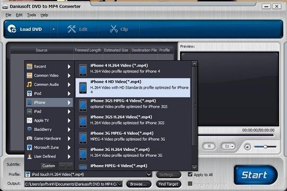 Daniusoft DVD to MP4 Converter