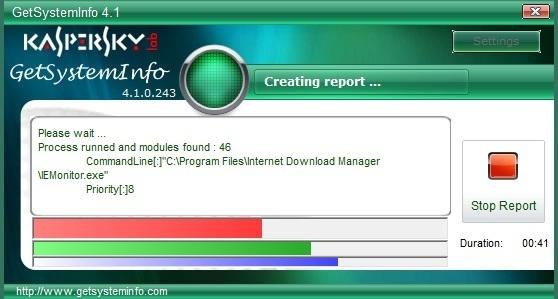 Kaspersky GetSystemInfo – Thu thập thông tin máy tính và chia sẻ qua Internet