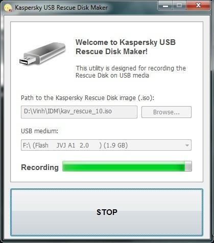 Kaspersky USB Rescue Disk