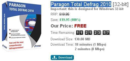 Paragon Total Defrag 2010