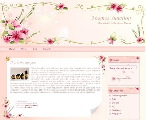 WordPress theme cho Blogger nữ