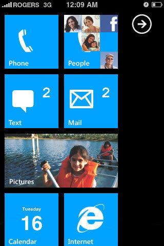 Giao diện WP7 cho iPhone