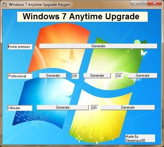 Windows 7 Anytime Upgrade – Tạo key nâng cấp lên các phiên bản Windows cao hơn