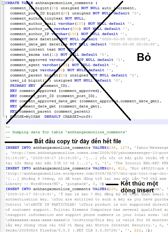 Backup and restore wordpress database