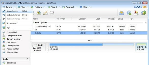 EASEUS Partition Master Home Free 8