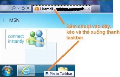 Hotmail notification in taskbar with IE9