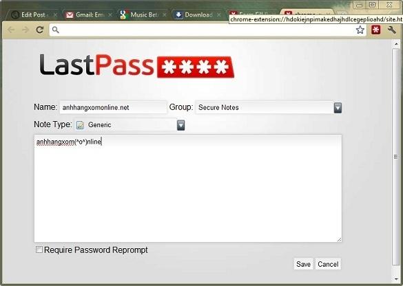 LastPass.com - Đăng nhập tự động