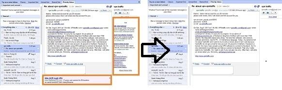 Loại bỏ quảng cáo ra khỏi hộp thư Gmail, YahooMail và HotMail