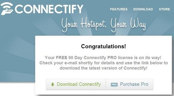 Connectify PRO - Nhận key bản quyền miễn phí