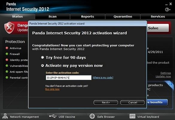 Panda Internet Security 2012 - Nhận key bản quyền 6 tháng miễn phí