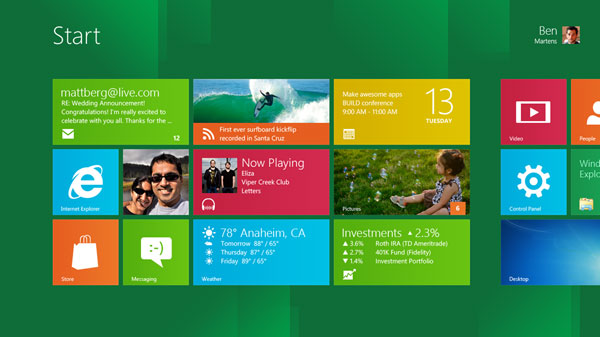 Windows 8 Developer Preview - Link tải trực tiếp Windows 8