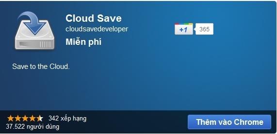 Cloud Save - Lưu dữ liệu lên các dịch vụ trực tuyến từ menu chuột phải