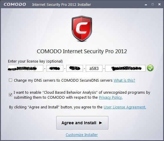 Comodo Internet Security 2012 - Nhận key bản quyền 1 năm miễn phí