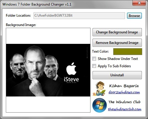 Windows 7 Folder Changer - Thay đổi hình nền thư mục trong Windows 7