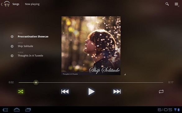 Google Music Player cho điện thoại Android