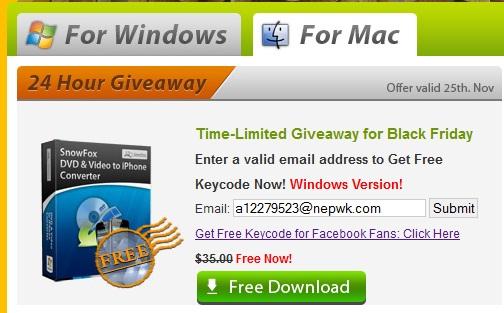 SnowFox DVD & Video to iPhone Converter - Nhận key bản quyền miễn phí