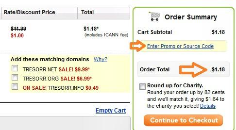 Mua tên miền với giá $1.18 tại GoDaddy