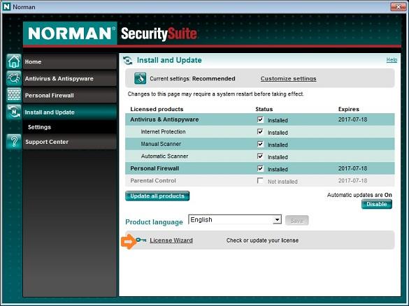 Norman Internet Security - Bản quyền 4 năm miễn phí