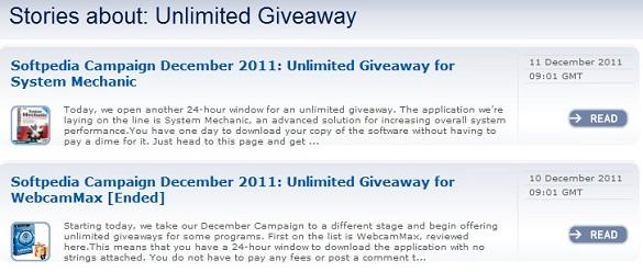 Mỗi ngày một phần mềm bản quyền miễn phí tại Softpedia