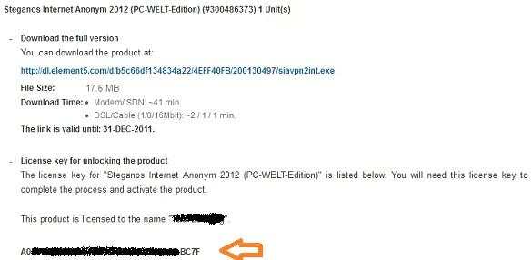 Steganos Internet Anonym 2012 - Nhận key bản quyền miễn phí nhân dịp Noel