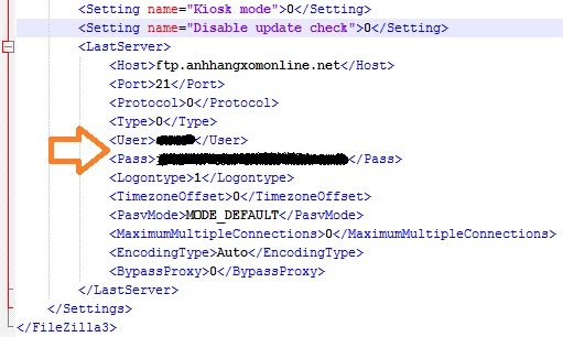 Xem mật khẩu ftp dễ dàng khi sử dụng phần mềm FileZilla