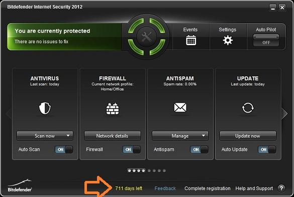 Vô hiệu hóa tạm thời BitDefender Internet Security 2012
