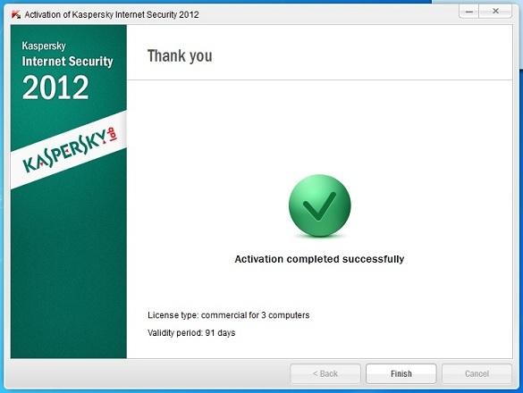 Kaspersky Internet Security 2012 - Nhận key bản quyền