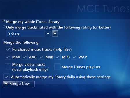 MCE Tunes Express