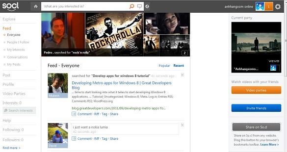 So.cl - Mạng xã hội mới của Microsoft