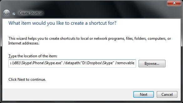Thay đổi đường dẫn mặc định cho Skype