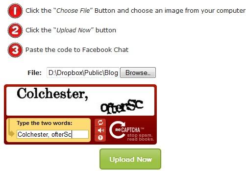 Chèn hình ảnh vào facebook chat