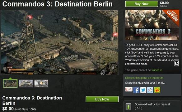 Tải miễn phí game Commandos 3 - Destination Berlin