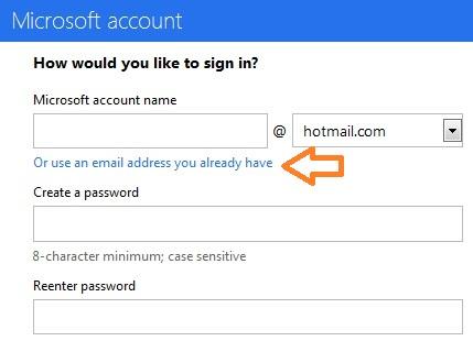 Sử dụng Outlook.com mà không cần phải tạo địa chỉ mail mới