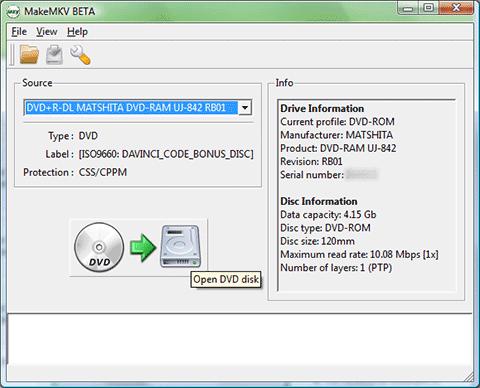 MakeMKV - Phần mềm tí hon giúp rip đĩa DVD sang định dạng MKV