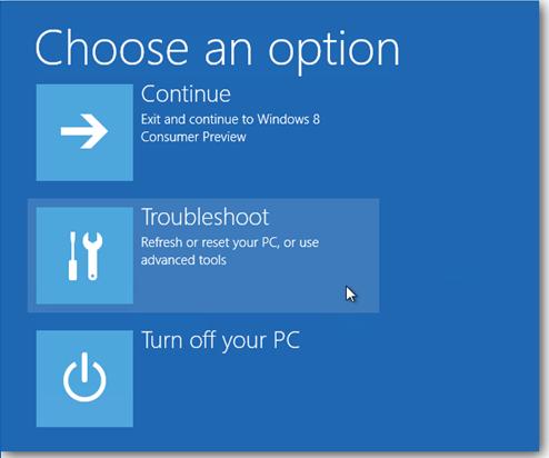 Phím F8, SafeMode và chế độ Recovery của Windows 8