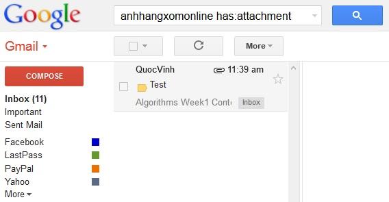 Gmail đã hỗ trợ tìm kiếm trong file đính kèm