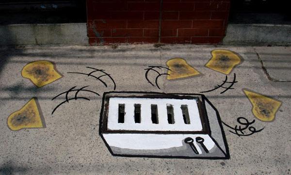 Nghệ thuật cũng có thể bắt đầu ở...nắp cống