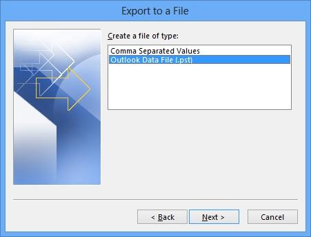 Sao lưu email, danh bạ và cấu hình tài khoản của Microsoft Outlook