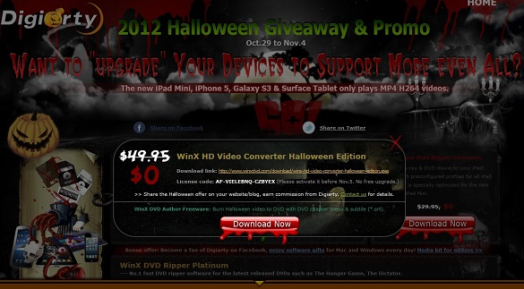 WinX HD Video Converter Deluxe - Nhận key bản quyền miễn phí
