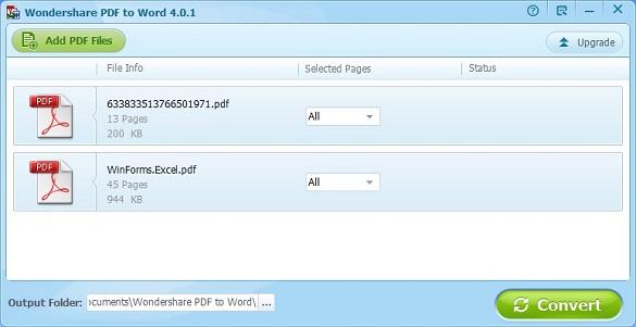 Wondershare PDF to Word Converter - Nhận key bản quyền miễn phí