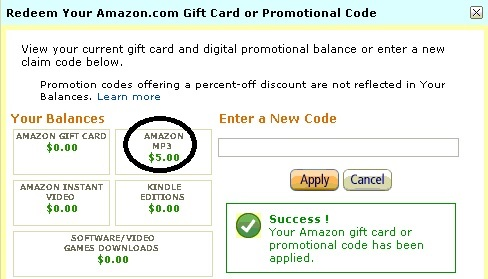 Nhận $5 miễn phí cho tài khoản Amazon Mp3